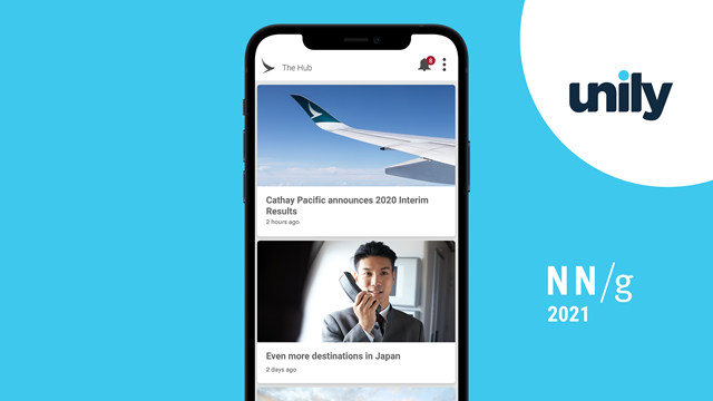Cathay Pacific's award-winning intranet software on mobile